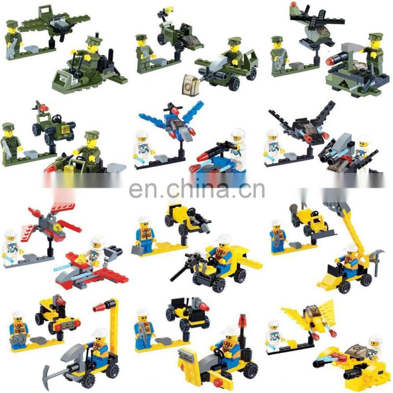 12 kinds mixed mini plastic building block toy with candy