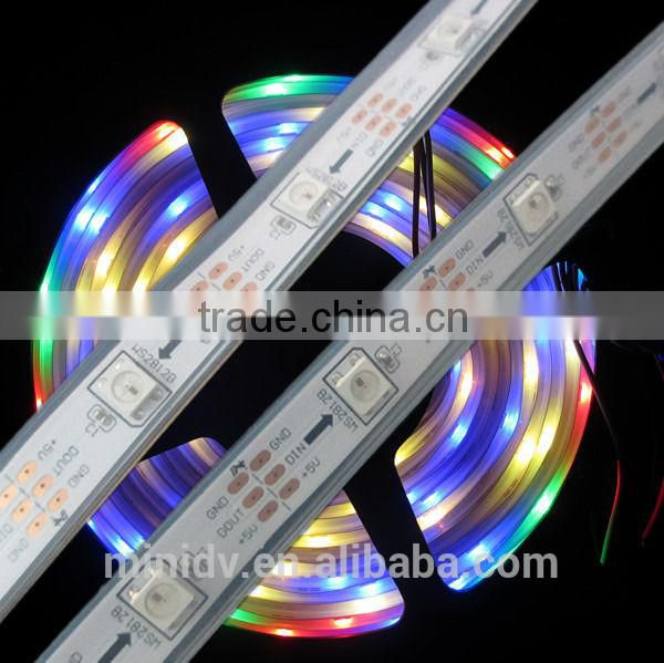 18W/meter 60LED/M 5050 SMD Type DC5V WS2812 LED Strip Light One IC Drives 3 SMD Support Both Full Color and Dream Color Changing