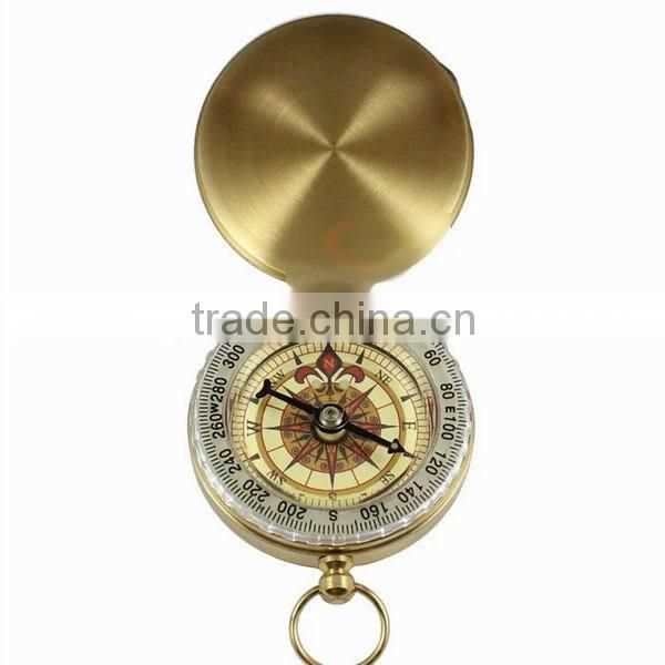 2015 New Products Watch Brass Pocket Compass