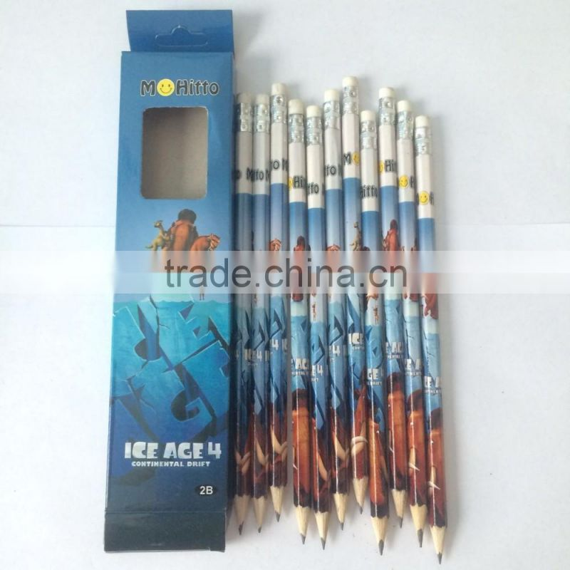 Cheap price HB pencils wooden student pencil
