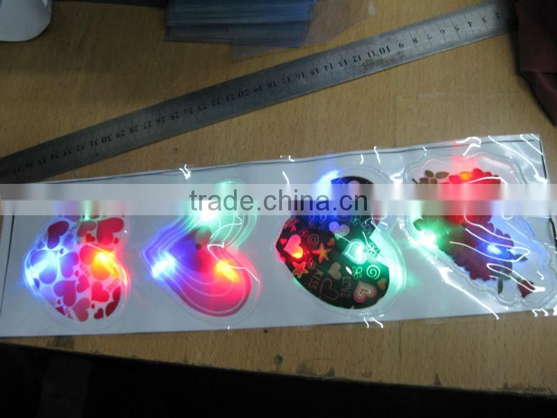 Stylish waterproof flashing pvc patch with light