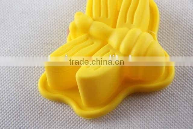 Insect design silicone bakeware bee/butterfly shaped cake mold