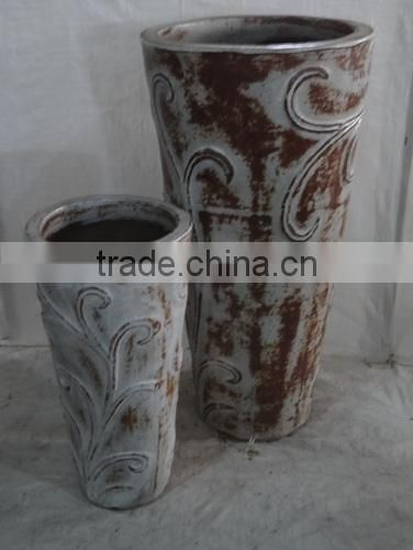New Design for Glazed Outdoor Rustic Pottery of Viet Nam Rustic Glazed Ceramics Pots Manufacturers-Round Pots-Tall Pots