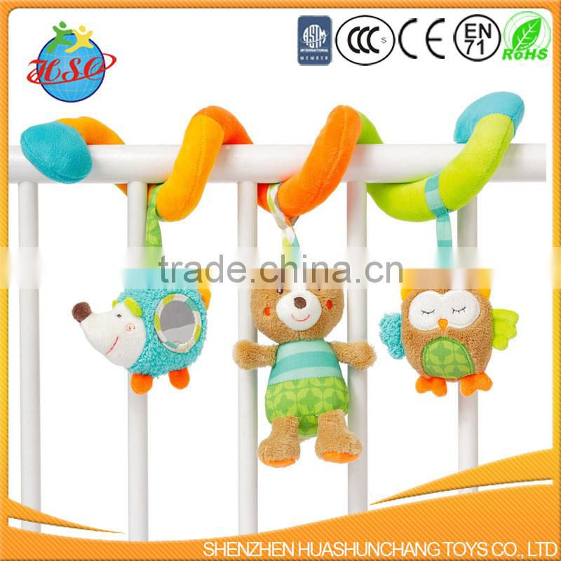 Baby bed crib hanging plush activity spiral toy