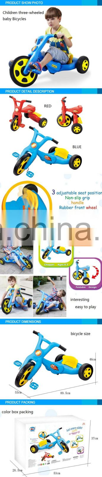 Funny Series high quality 2016 Children 3-wheeled baby bicycle fashion design