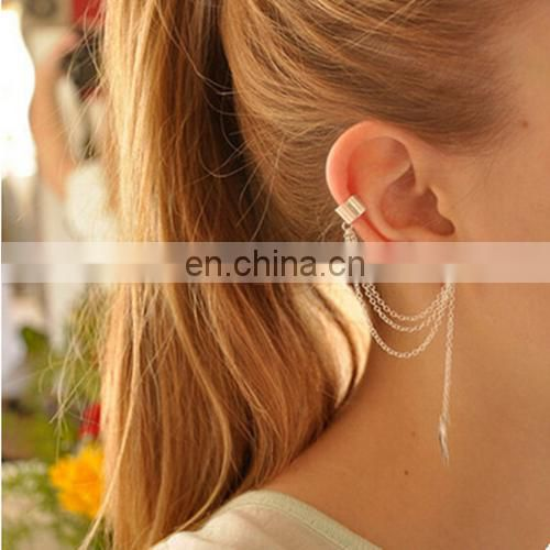 Ladies fashion Alloy leaf Personality ear clip earrings for all purpose