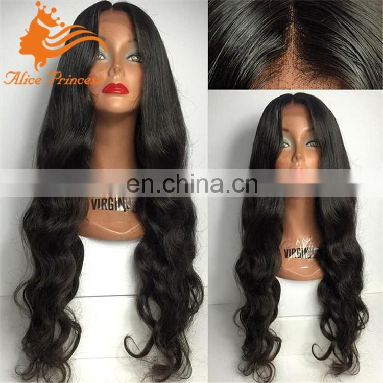 180 Density Full Lace Wig Indian Remy Hair Body Wave Human Hair Wig Lace Front Alice Wig