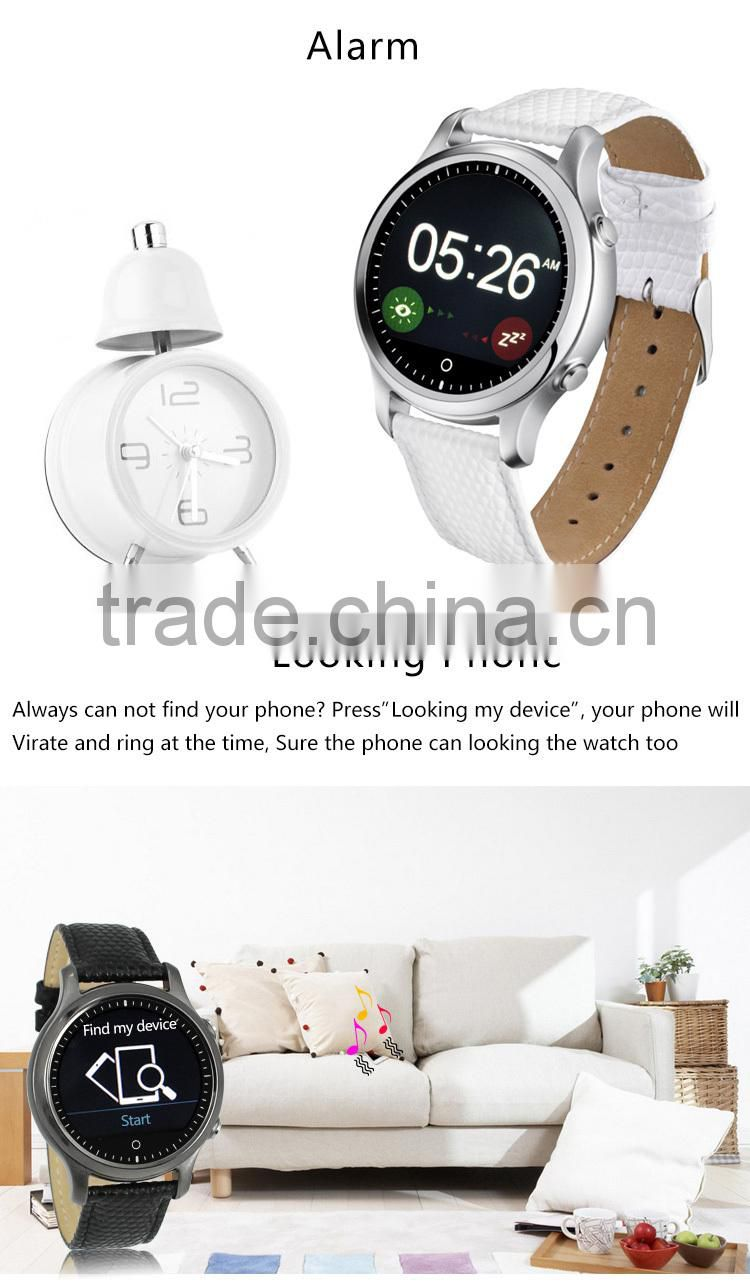 Round design Leather band SOS function Kids Smart Watch