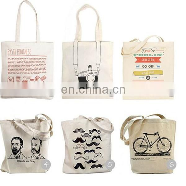 Cotton Canvas Tote Bags high quality logo printed fashion design Cotton Canvas Tote Bags
