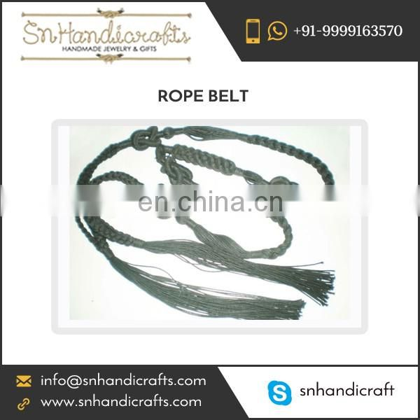 Handmade Braided Rope Belt for Bulk Supply
