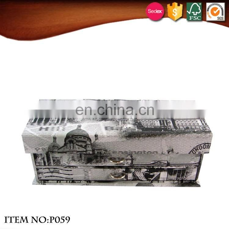 Large Rectangle Paper Three layers pencil case with drawers