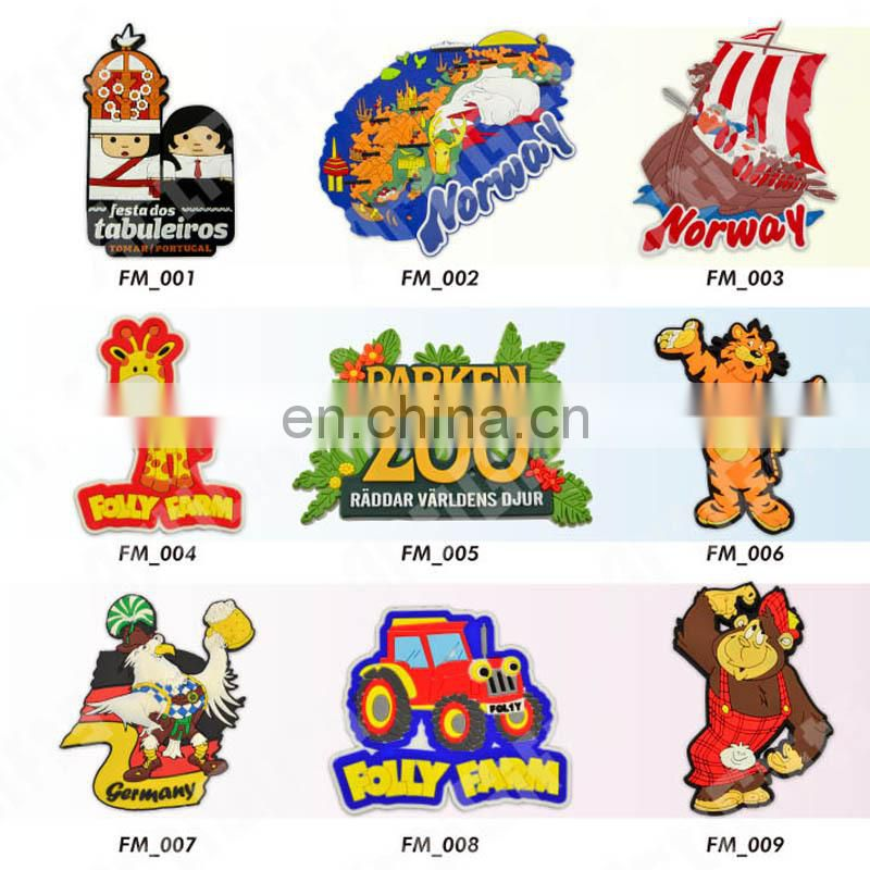 Custom Fridge Magnet Supplier Wholesale,Promotional Tourism Souvenir 3d Soft pvc Fridge Magnets For Different Countries