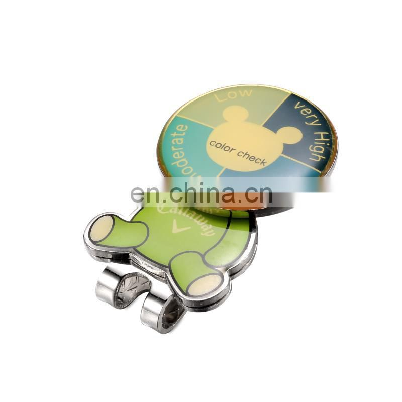 Antique Silver Enamel Golf Cap Clip Marker Multi Style Hat Clip Ball Magnetic Hat Clips Golf Accessories