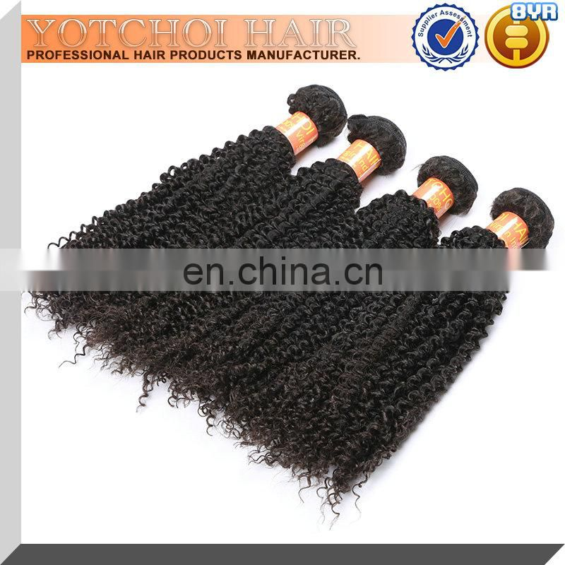 3 Bundles Brazilian Virgin Kinky Curl Hair Weave 7A Grade Unprocessed Human Hair Weft Extensions Natural Color Mixed Length