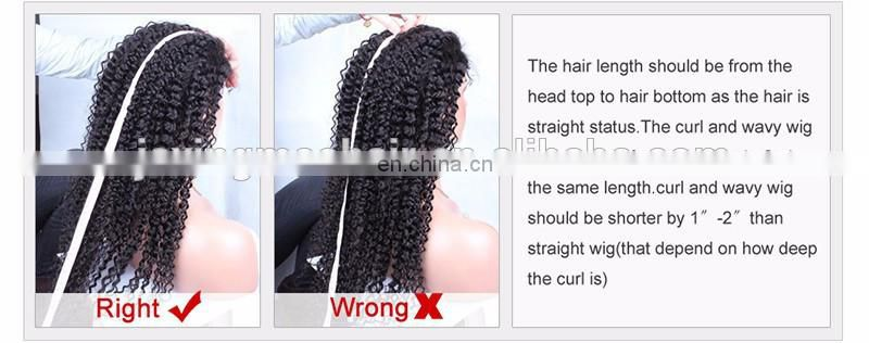 Best Brazilian Afro Kinky Curly Hair Wig Glueless Human Hair Lace Front Wig For Black Women