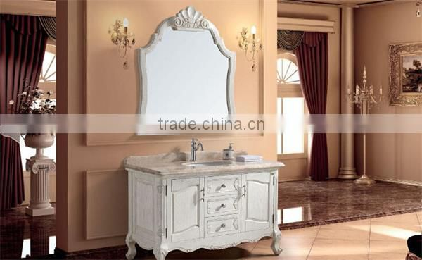 Old Fashioned Style Five Star Hotel Lighted Vanity Mirror For Wall Decorative Mirror