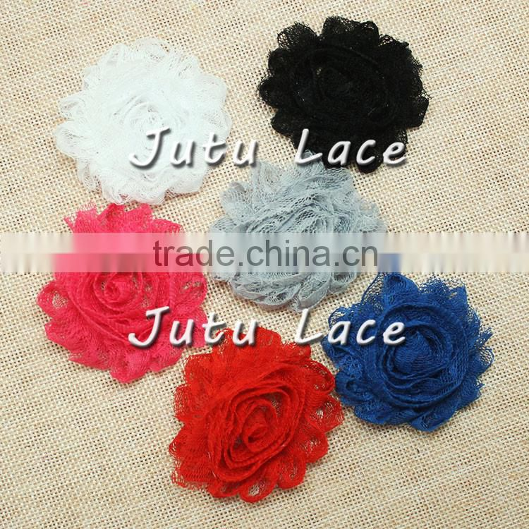 New shabby flower shabby chic flower lace rosette hair accessory