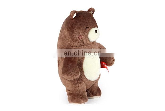 Best made cuddly brown plush stuffed bear soft toys