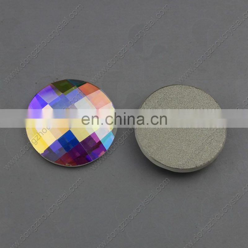 Silver Foiled Round Flat Back Rhinestones for Wholesale