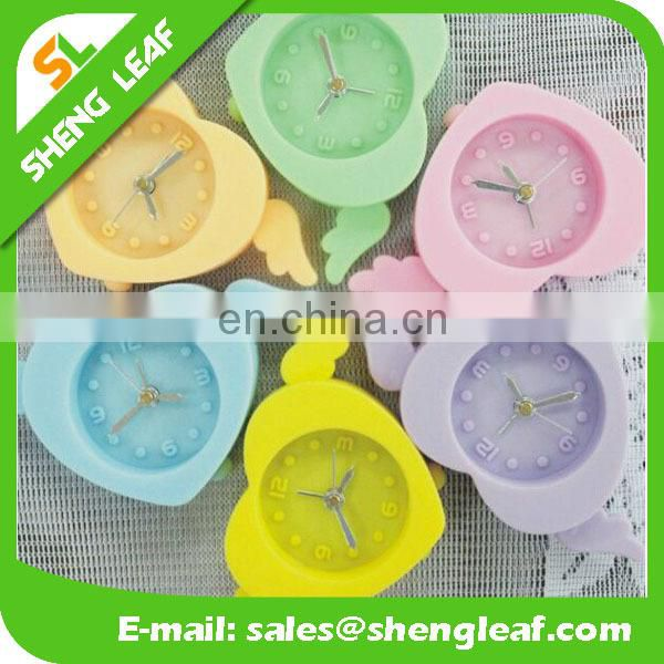Mini angel heart-shaped alarm clock Creative good quality silicone small alarm clock