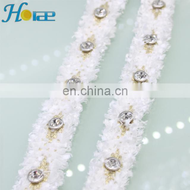 hit156 2.5cm white color crystal ribbon band rhinestone ribbon trimming decoration