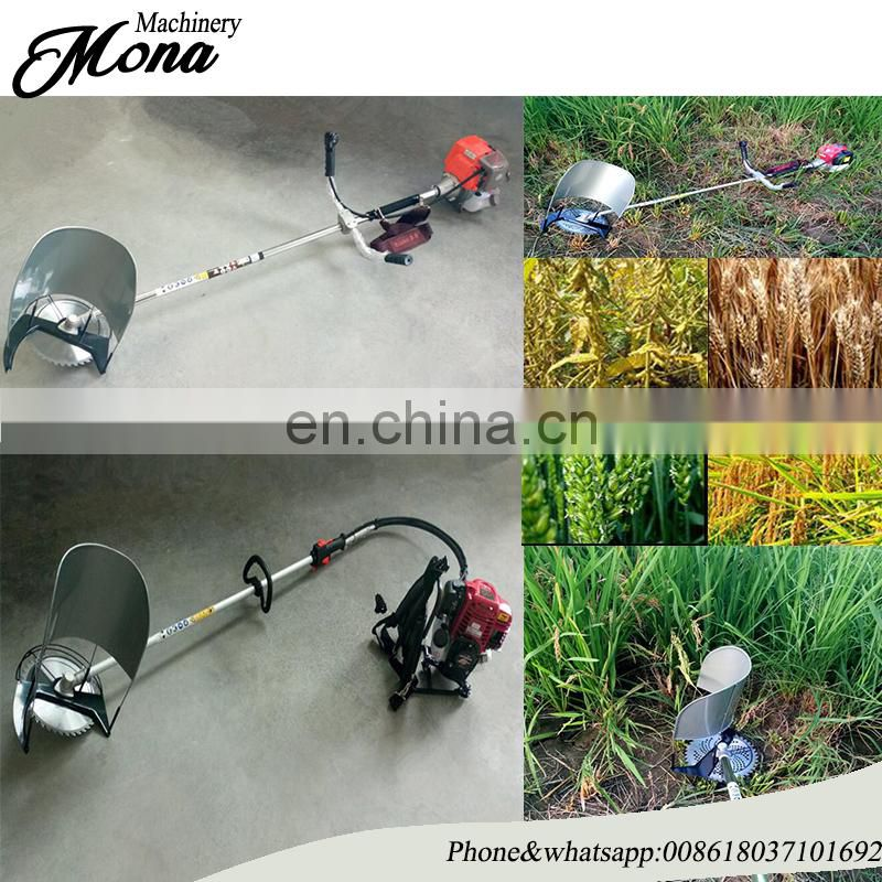 Hand type corn paddy soybean weeds removing machine