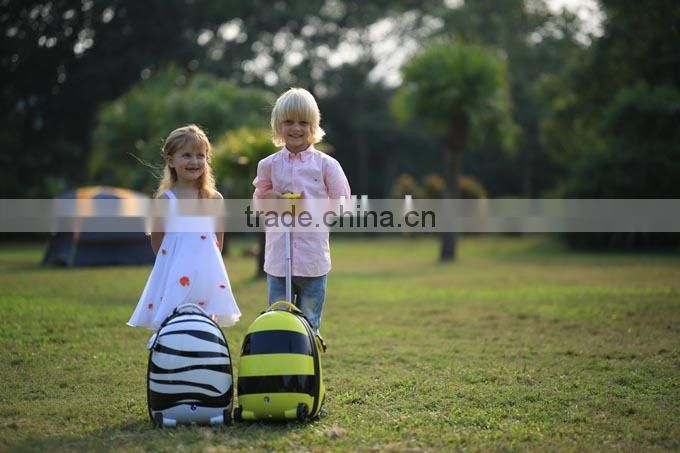 2015 RASTAR animal design Plastic kids rolling suitcase luggage bags