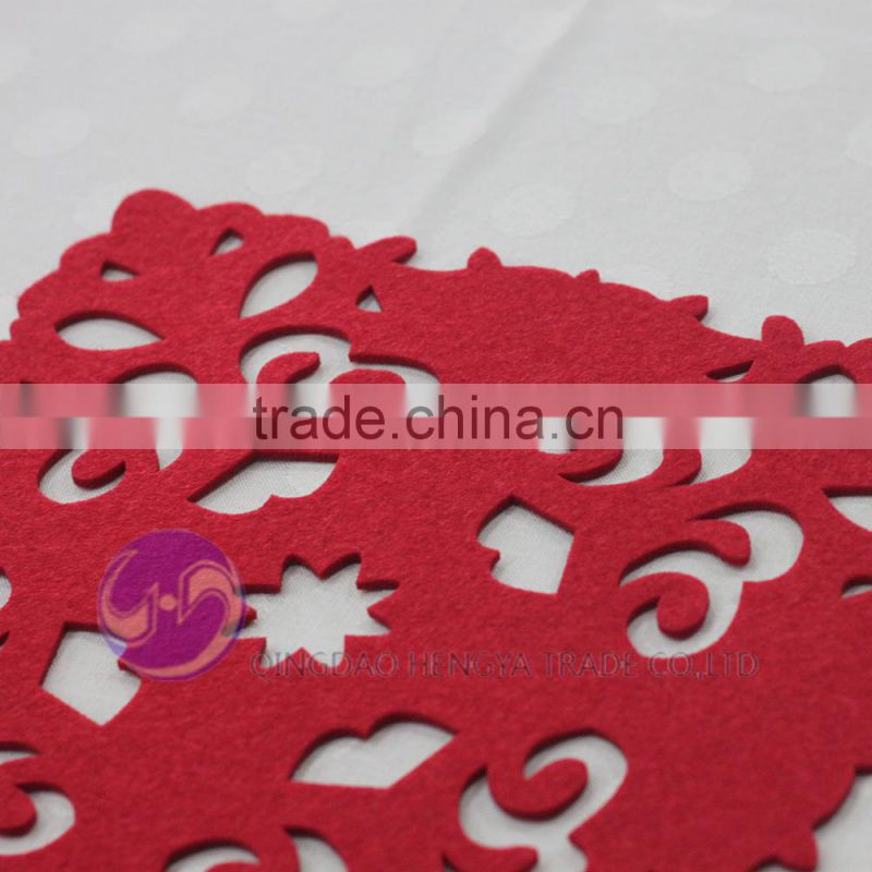 Red felt snowflake kids christmas placemat