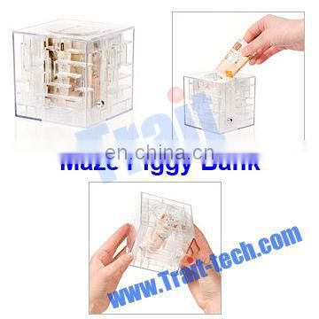 Maze Transparent Plastic Piggy Bank, Cheap Saving Bank, Maze Money Box
