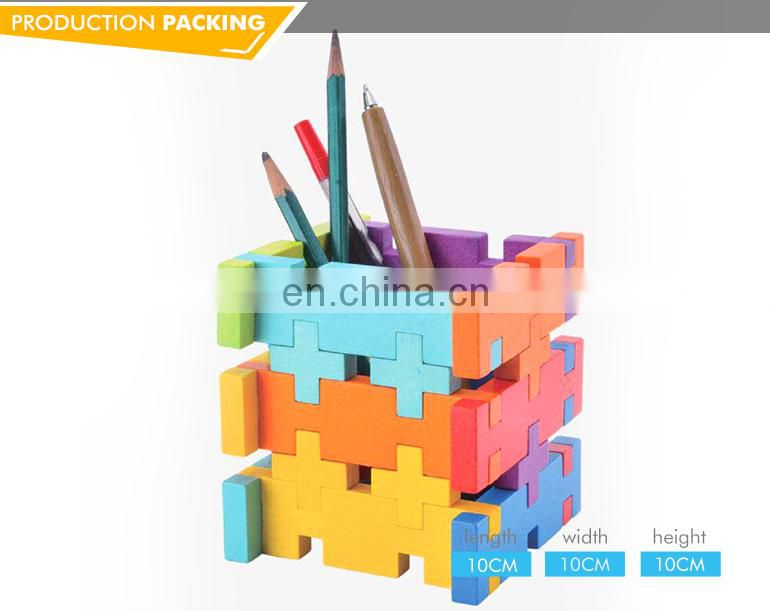High quality funny rainbow colorful decorative building blocks