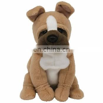 Best sell plush stuffed happy dog toy B 3305 China plush toy manufacturer