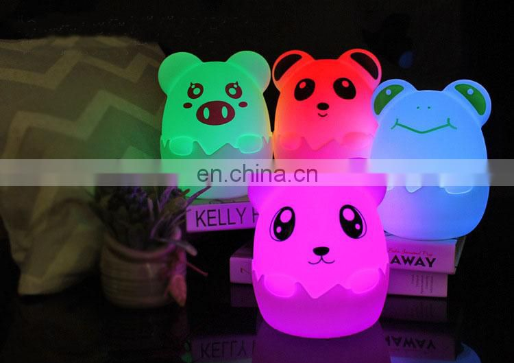 Night lighting lamp portable LED night light cute design bedside eye caring lamp