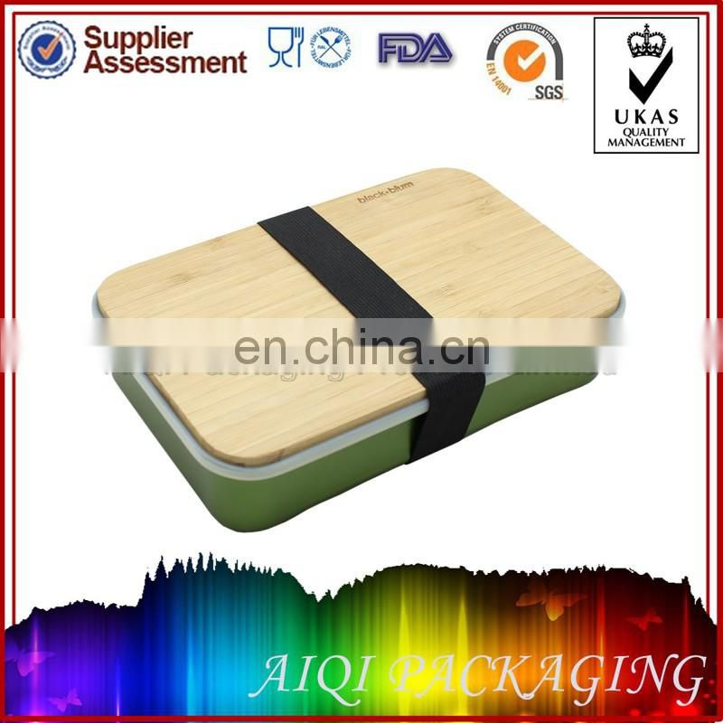 Aluminum box with bamboo lid