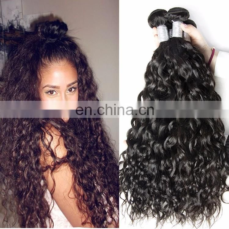 Natural Indian Water Wave Human Hair Weaving 7A Grade Wave Hair Extensions For Black Women On Sale