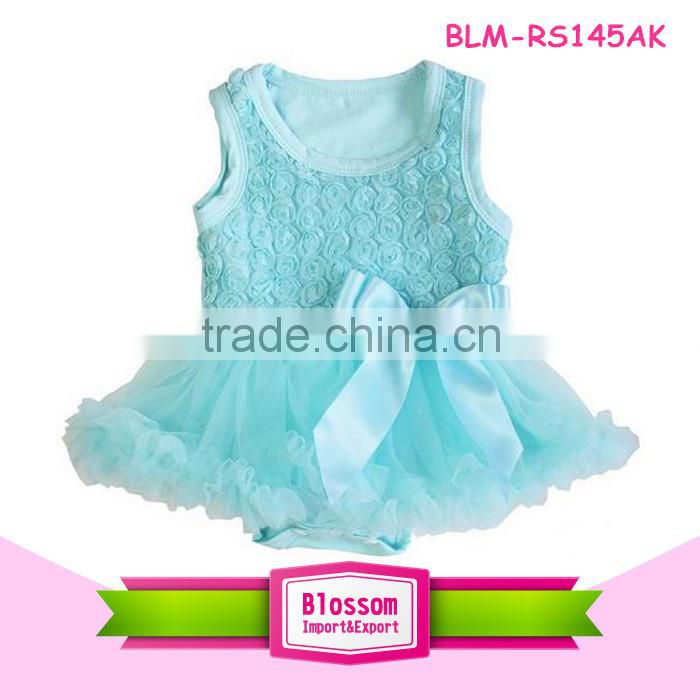 Wholesale children's boutique clothing baby girl's rose romper baby tutu romper