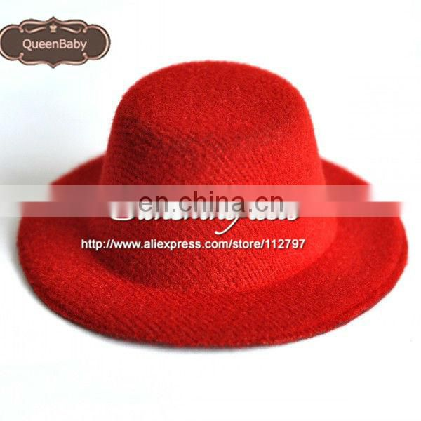"Red 2013 Hot Sale Promotion Cute 4"" Mini Top Hat Baby Hats Felted Wool on sunshine field"