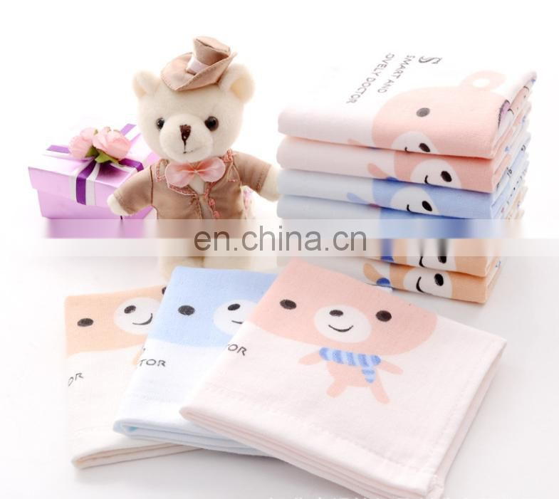 Wholesale Cartoon Gauze Printing 100% Cotton Hand Towel For Baby