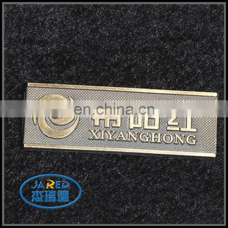 zhejiang Custom cheap metal zinc alloy badge/label for sale
