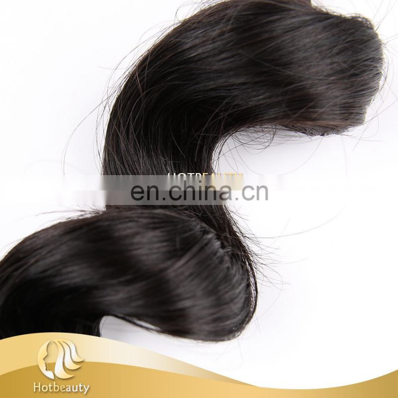 The Hot Sale Loose Wave Hair in Alibaba Silky and Nutritious Peruvian Virgin Human Hair