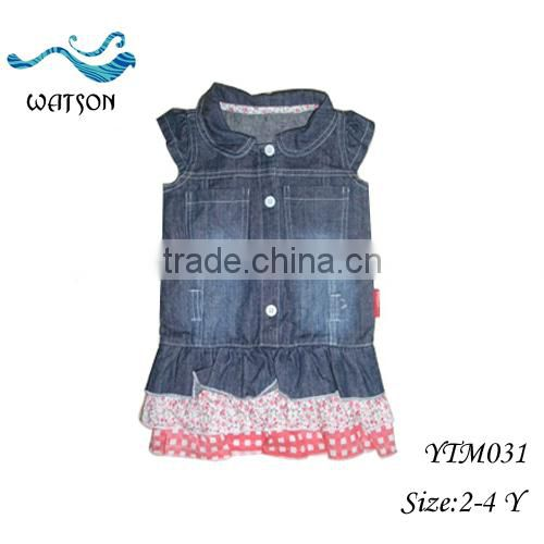 Jeans Light Denim Top Children's Skirt Hem