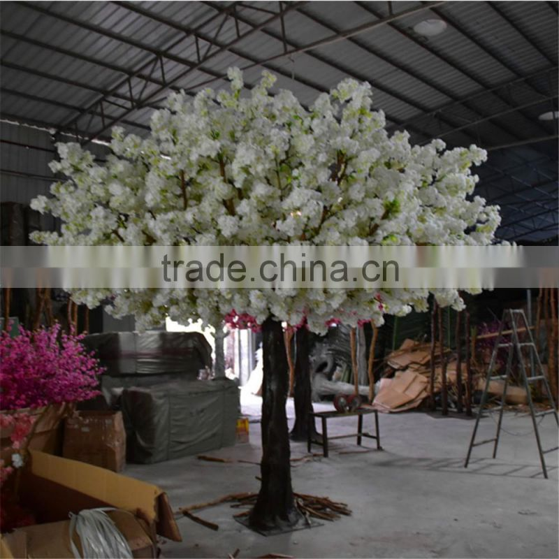 Hotsale Artificial White Cherry Blossom Tree Wedding Table Centerpiece Silk Cherry Blossom Tree