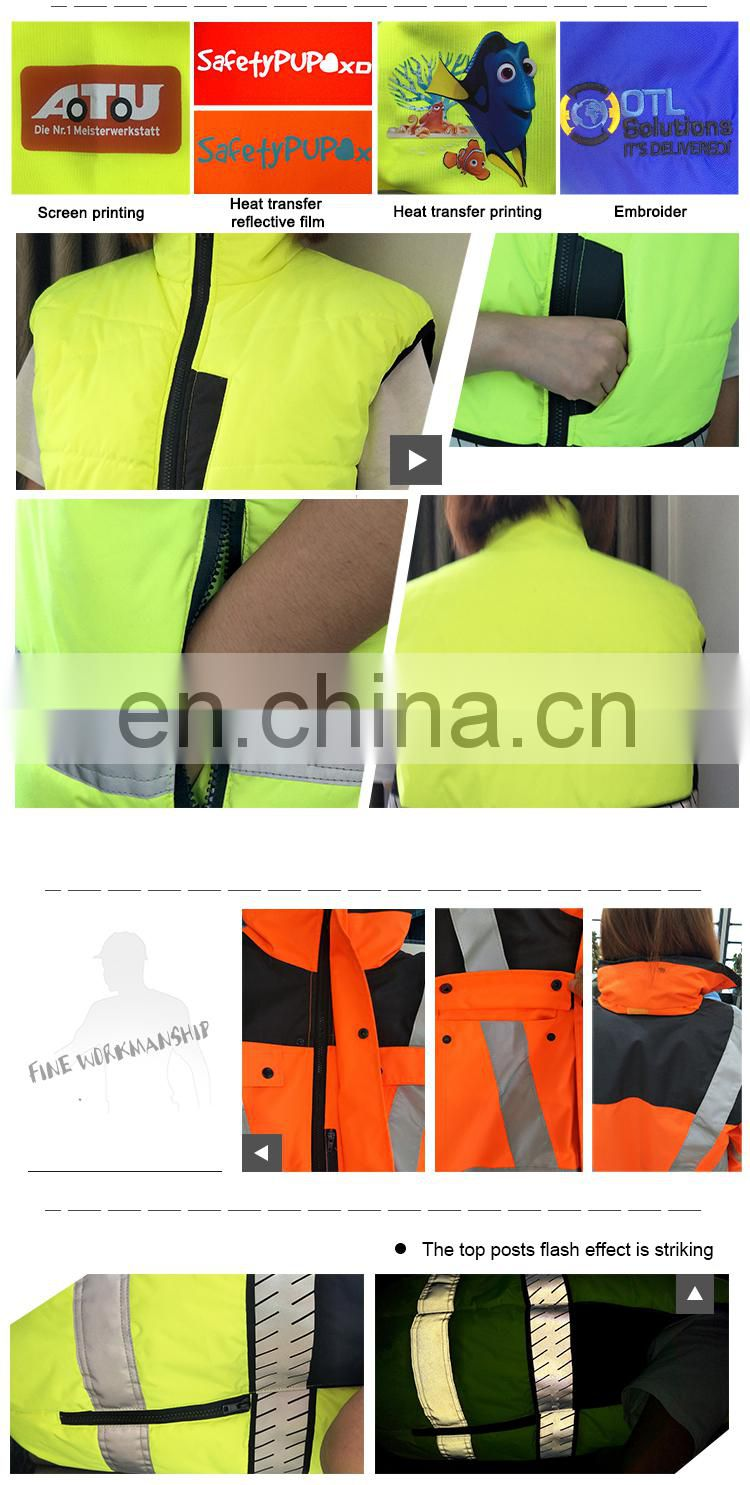 High Visibility Reflective Safety Pvc Transparent Raincoat