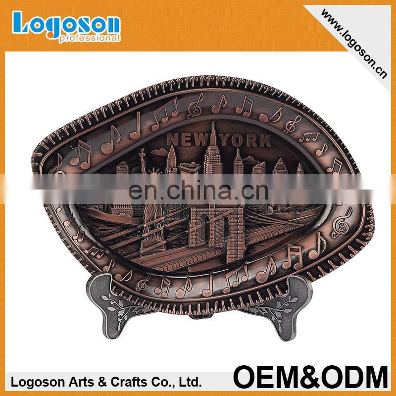 Souvenirs of Italy Tower of Pisa Roma Venezia Bologna Decoration metal Plate souvenir plate