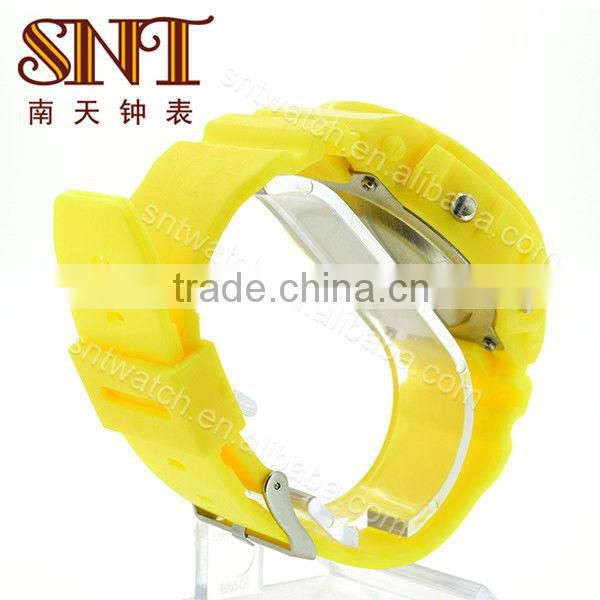 SNT-SP020B elegant sport hand watch yellow color sport watch