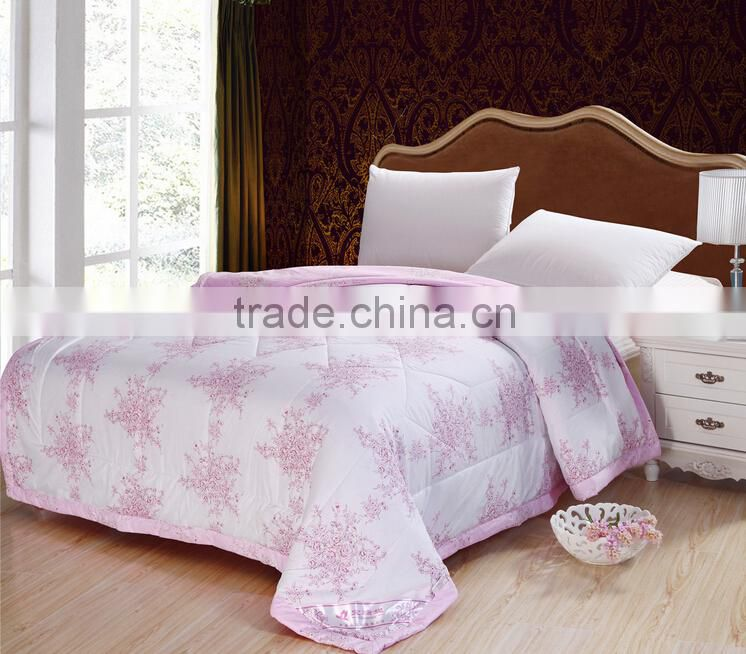 2015 wholesale cheap polyester silk fabric for making flat sheetbed duvets with patterns in 3d
