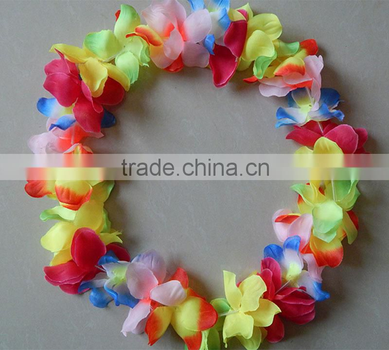 2014 Yiwu Aimee wholesale hawaii flower lei necklace set(AM-HW04)