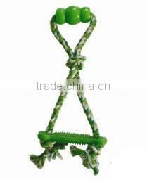 cute design 3-strand twisted cotton rope educational dog toys