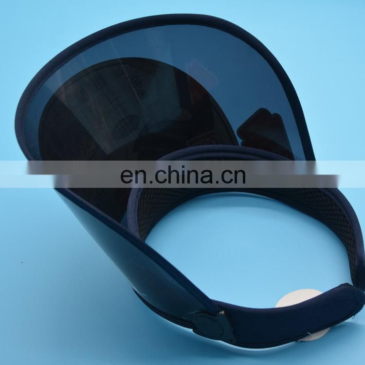 Factory direct wholesale plastic pvc uv sun visor hat with customer logo