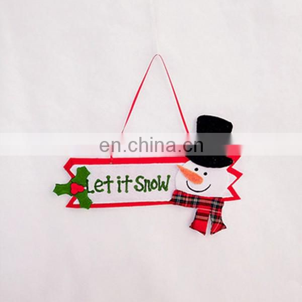 "christmas decoration christmas door brand ""Merry Christmas"" sign felt door hanger"