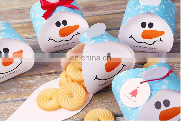 christmas decoration paper dessert box christmas candy box